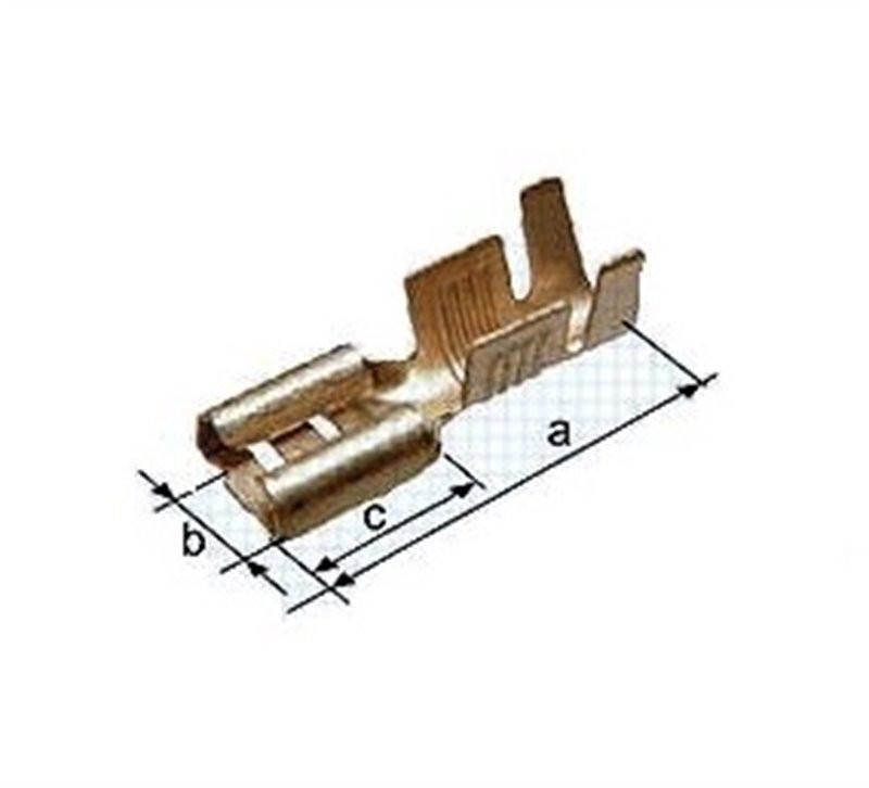 Konektor 6,3mm złoty żeński...