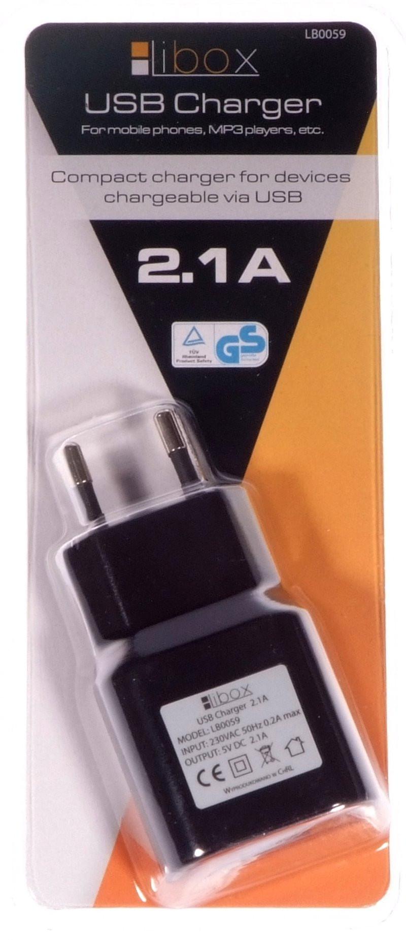 Ładowarka sieciowa USB 2,1A...