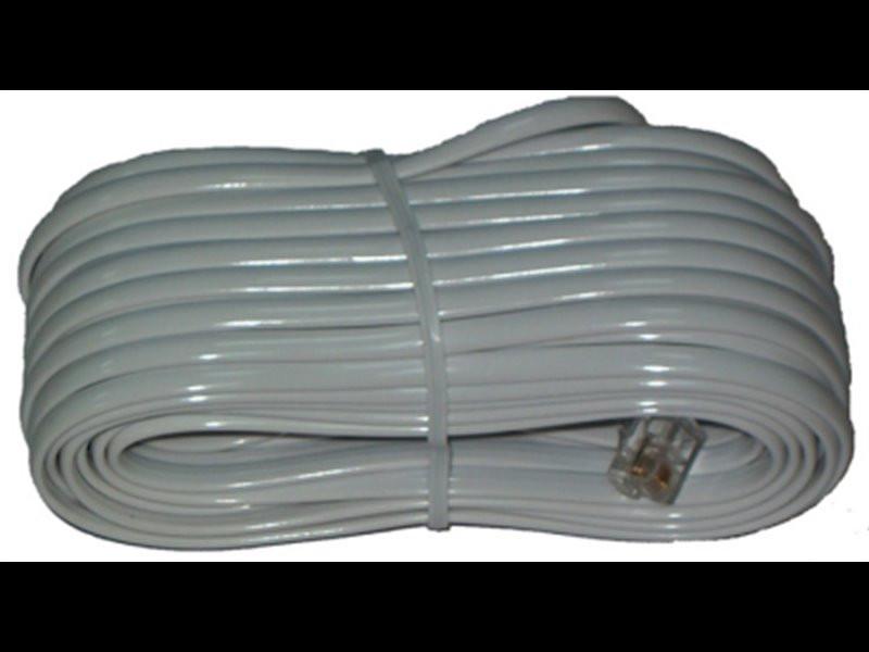Kabel tel. prosty 20m biały