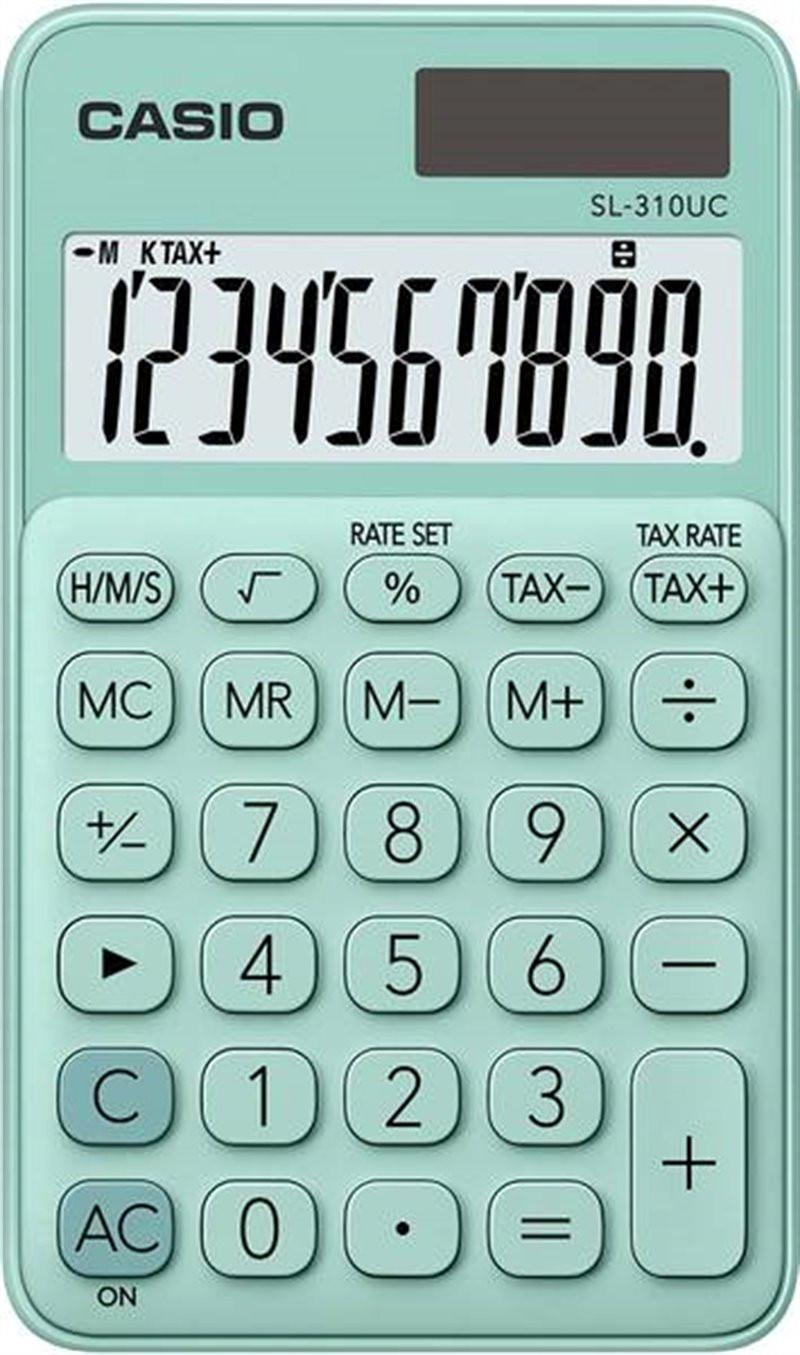 Kalkulator Casio zielony...